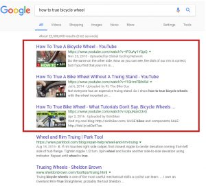 video advertising results on google